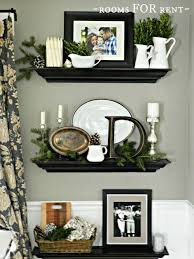 Home decorating ideas floating shelf vignette decorated for