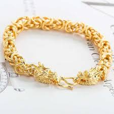 bracelet gold man silver images Men and european fashion jewelry wholesale copper plated 24k gold jpg
