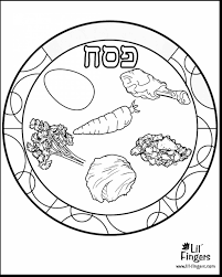 Incredible Passover Seder Plate Coloring Page With In Plate Coloring Page