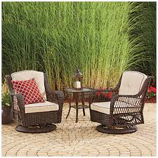 wilson u0026 fisher barcelona 3 piece resin wicker glider chairs and