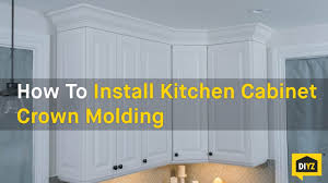 how to add crown molding to kitchen cabinets how to install kitchen cabinet crown molding youtube
