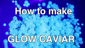 halloween black light ideas how to make fake caviar glow in the dark uv reactive diy