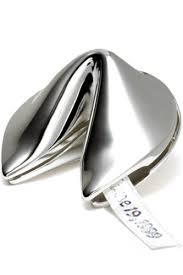 silver fortune cookie gift silver plated fortune cookie with hinge