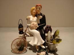 fishing wedding cake toppers loving fish fishing wedding cake topper bench lantern basket pail