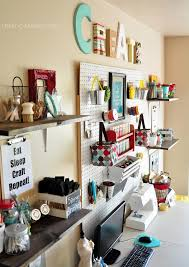 Diy Craft Room Ideas - craft room wall with whites and brights