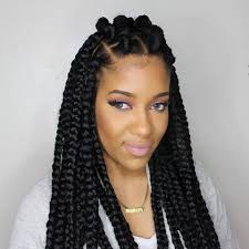 hairstyles for block braids how to jumbo box braids rubberband method youtube