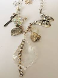 vintage crystal statement necklace images Butterfly amongst crystal chunky charm necklace statement jpg