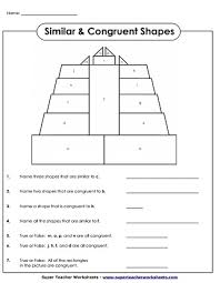 Similar And Congruent Figures Worksheet Geometry Worksheets Congruent And Similar Shapes