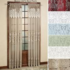 Priscilla Curtains With Attached Valance Valance Lace Priscilla Curtains With Attached Valance Satisfying