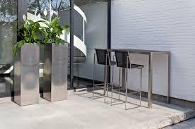 Outdoor Bar Table And Stools Nimio Bar 140 190 Cima Collection Fueradentro Outdoor