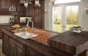 gripping kitchen work island butcher block top walnut with