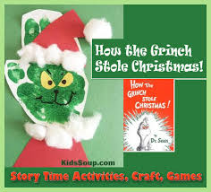 how the grinch stole christmas story time and craft kidssoup