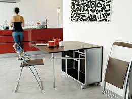 Folding Table With Chairs Inside Folding Dining Table With Chair Storage Storage Surripui Net