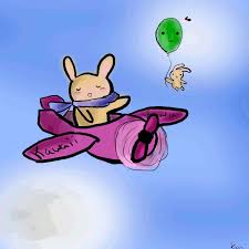 bunny chibi in plane animated by pklove chan on deviantart