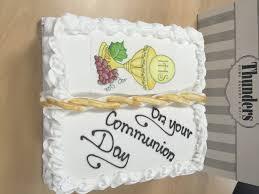 communion book communion book cake finish 2 thunders bakery