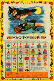 halloween calendars the golden calendar october 1956 by john peter pictures by
