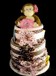 3 tier carters jungle jill monkey diaper cake baby shower gift