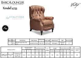 Lounge Chair Dimensions Ergonomics Barcalounger Kendall Ii Recliner Chair Leather Recliner Chair