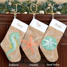 christmas ashore sand dollar christmas stocking beach house