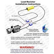 load resistors for led lights 3ohm led load resistors for led turn signal