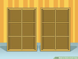 build a craft table how to build a craft table with pictures wikihow