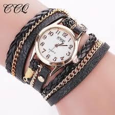 leather bracelet woman images 2016 hot sale fashion casual wrist watch leather bracelet women jpg