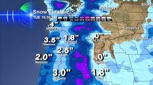 Vancouver Washington Map by March Snow Vancouver Washington Bruce Sussman Portland Weather