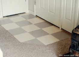 yes you can paint simple peel and stick floor tile on how to paint