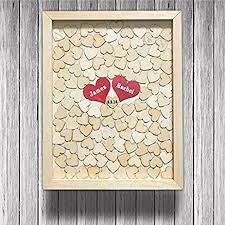 wedding guest books wedding guest book rustic heart frame drop box wooden