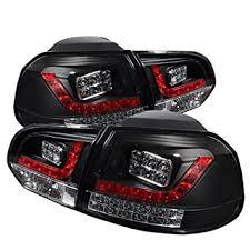 vw led tail lights amazon com spyder auto volkswagen golf gti black led tail light