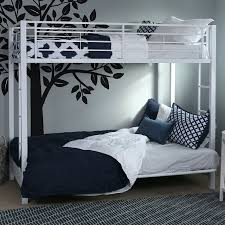 amazon com sturdy metal twin over futon bunk bed in white finish