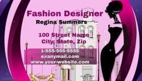 Business Card Fashion Designer Customizable Design Templates For Fashion Designer Business Card