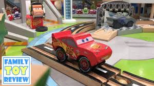 matchbox car play table cars 3 toy hunt disney cars 3 wooden trackset play table