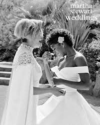 halloween wedding ideas martha stewart exclusive see samira wiley and lauren morelli u0027s incredible