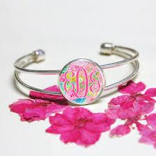 monogrammed cuff bracelet best custom monogram bracelet products on wanelo
