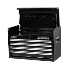 husky 5 drawer side cabinet husky 26 in w 4 drawer tool chest black h4ch1r the home depot