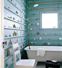 Beachy Bathroom Accessories by Beach Style Bathroom Designs Seashell Decorhalfbathroom Seashells