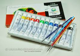 acrylic paints and nail art brushes set from born pretty simply rins