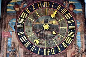 zeitglockenturm astronomical clock close up in solothurn