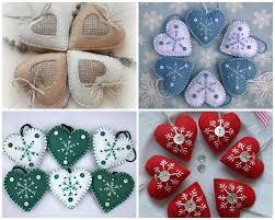 Felt Heart Christmas Ornaments Cykl świąteczny 2 Filcowe Ozdoby świąteczne Haligashka Xmas