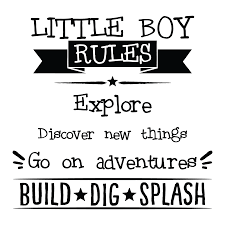 quote decals for glass little boy rules wall quotes decal wallquotes com