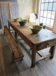 Wooden Kitchen Table With Bench Foter - Rustic wood kitchen tables
