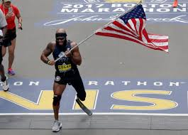 Finish Line Flag Marine Who Lost Leg In Afghanistan Runs Boston Marathon With