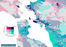 Bay Area Map Income And Racial Inequality Maps Business Insider