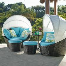 Outdoor Patio Daybed Outdoor Espresso Turquoise Outdoor Patio Daybed Cool Boundless