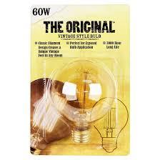 feit 60 watt vintage g25 globe incandescent light bulb soft