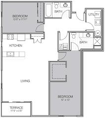 Luxury Apartment Floor Plans Apartment Floor Plan P Mosaic On Oakland Luxury Apartments