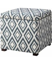 Ikat Storage Ottoman Spectacular Deal On Storage Ottoman Threshold Rectangular Single