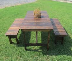 rustic outdoor picnic tables 539 or 639 rustic wood table amp bench set picnic table kitchen wood
