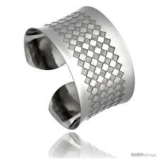 stainless steel cuff bangle bracelet images Stainless steel cuff bangle bracelet laser etched checkerboard jpg